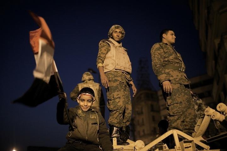 Celebração dos manifestantes egípcios 11