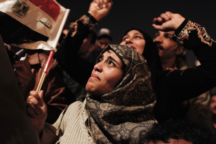 Celebração dos manifestantes egípcios 13