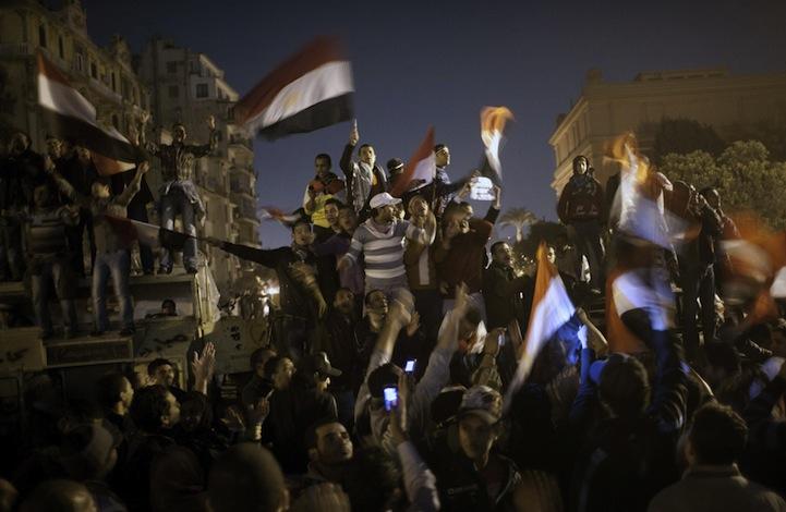 Celebração dos manifestantes egípcios 14