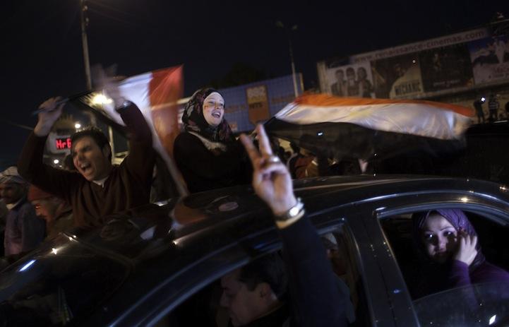 Celebração dos manifestantes egípcios 15