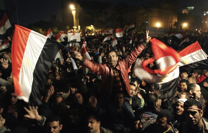 Celebração dos manifestantes egípcios 16