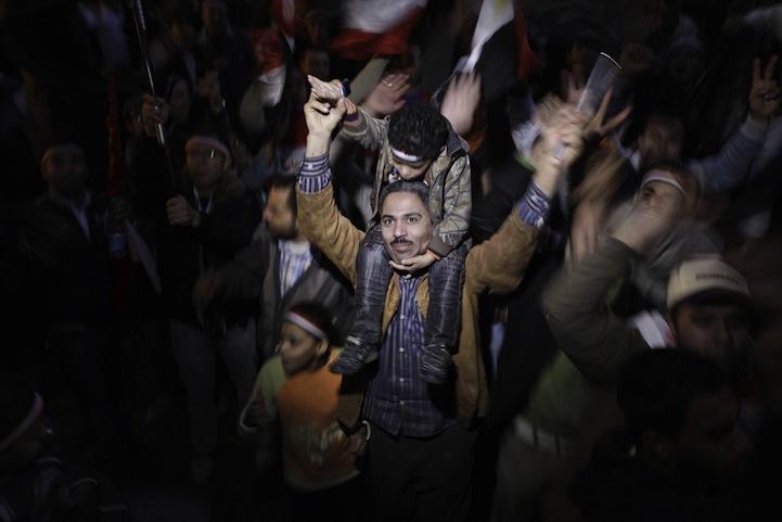 Celebração dos manifestantes egípcios 17