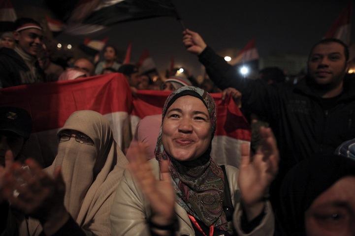 Celebração dos manifestantes egípcios 18