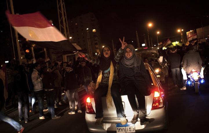 Celebração dos manifestantes egípcios 19