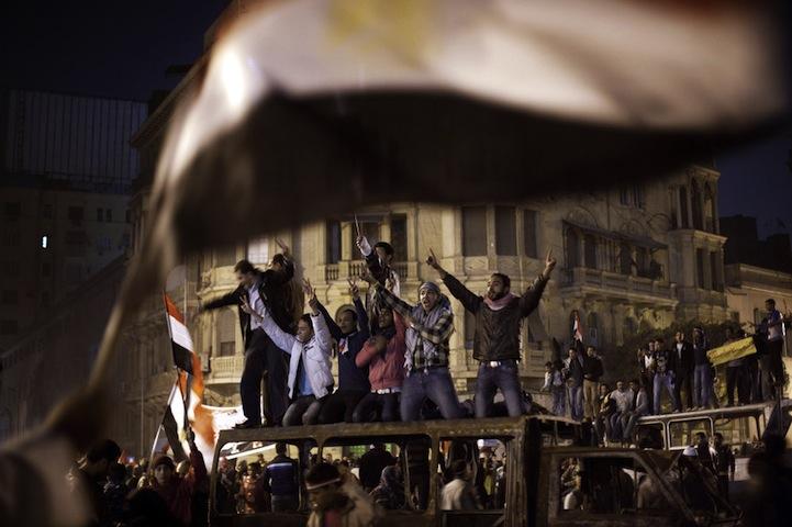 Celebração dos manifestantes egípcios 20