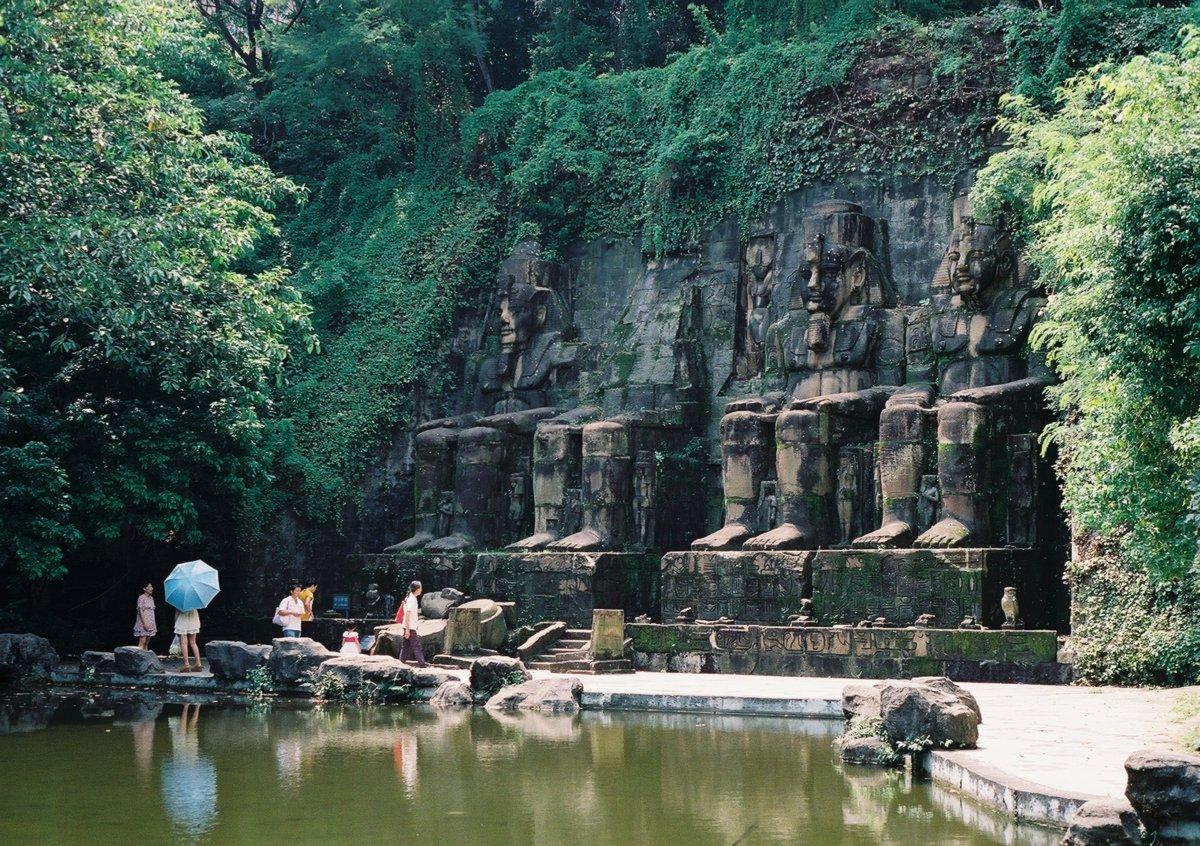 23 fotos do parque temático chinês cheio de monumentos mundiais 11