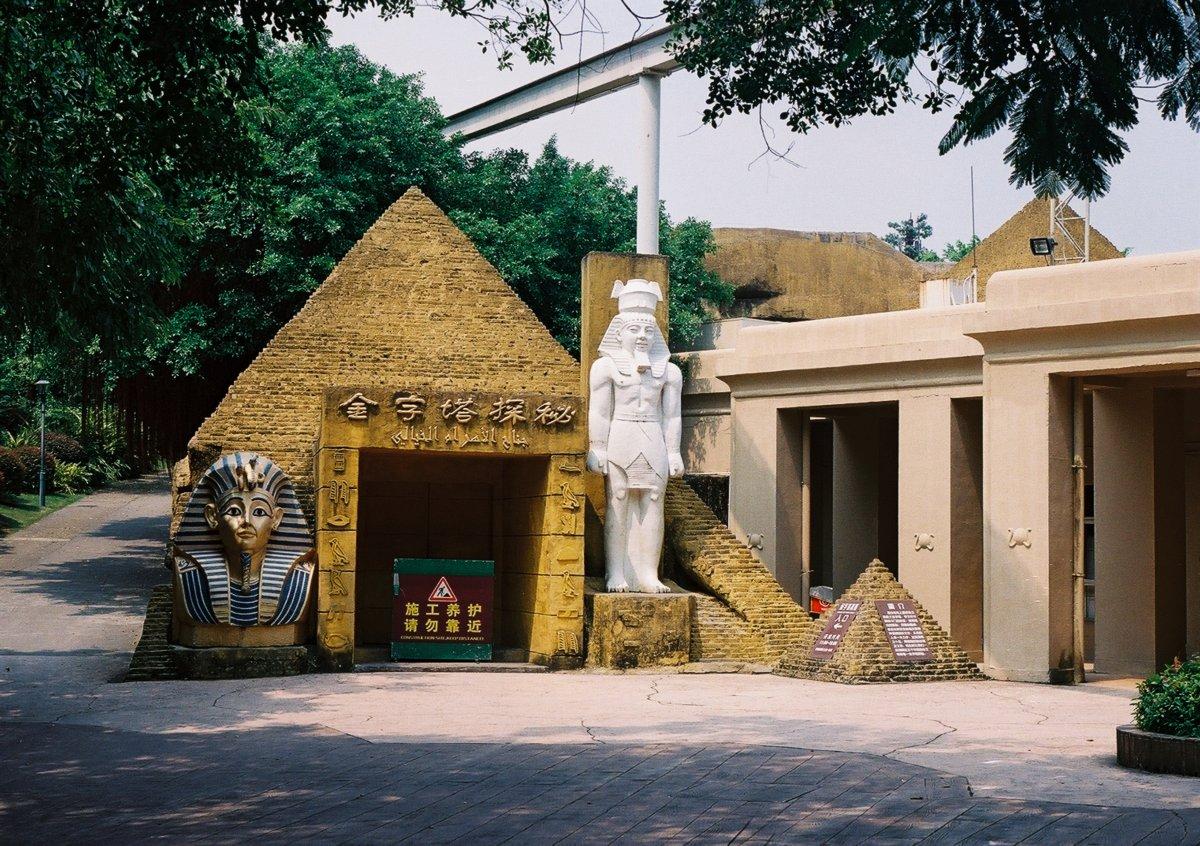 23 fotos do parque temático chinês cheio de monumentos mundiais 12