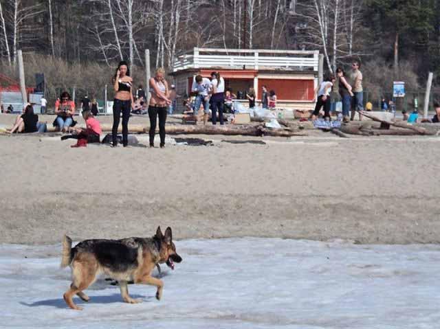 Um dia de praia na Sibéria 01