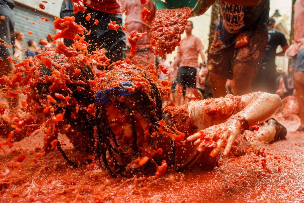 Tomatina: 16 fotos insanas da maior luta alimentar do mundo 09