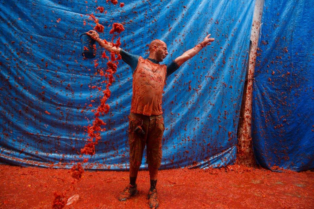 Tomatina: 16 fotos insanas da maior luta alimentar do mundo 13