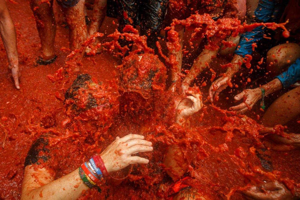 Tomatina: 16 fotos insanas da maior luta alimentar do mundo 14