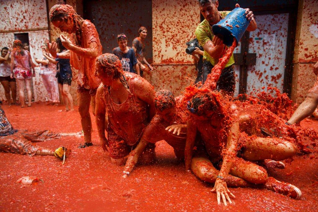 Tomatina: 16 fotos insanas da maior luta alimentar do mundo 15