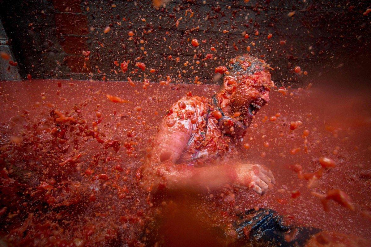 Banhados em tomate: as melhores fotos da Tomatina 2016 07
