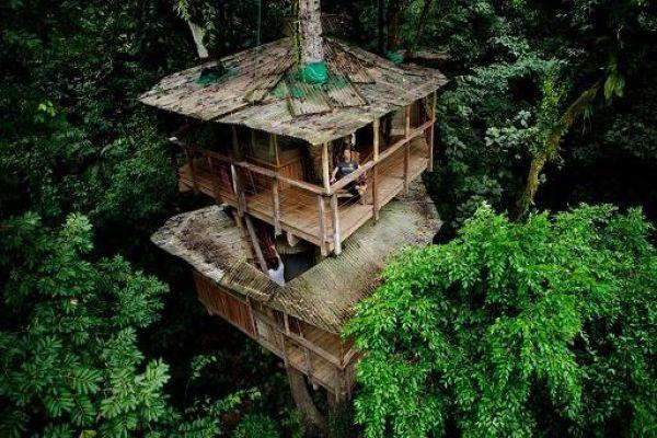 Incrível comunidade de casas nas árvores  30
