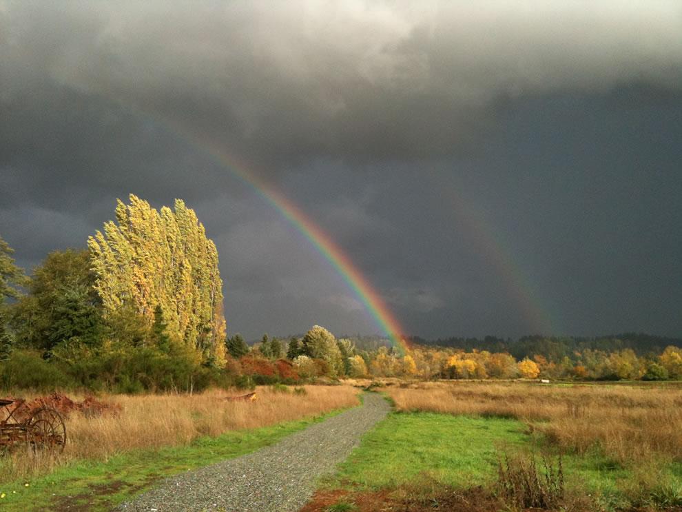 51 fotografias deslumbrantes de arco-íris duplo 12