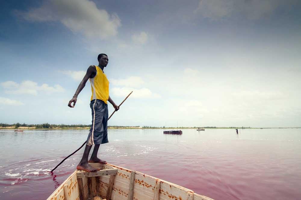 Lago Rosa no Senegal 11