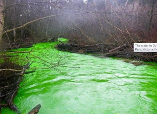 Um rio verde no Canadá 01