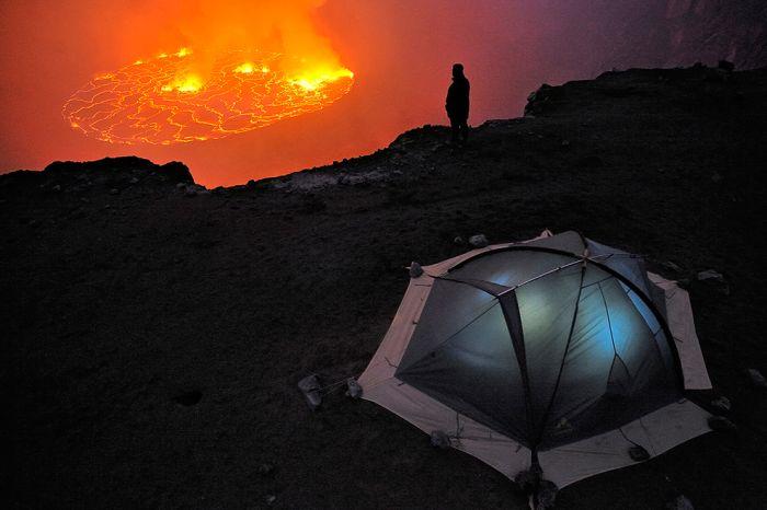 A cratera do vulcão Nyiragongo 06