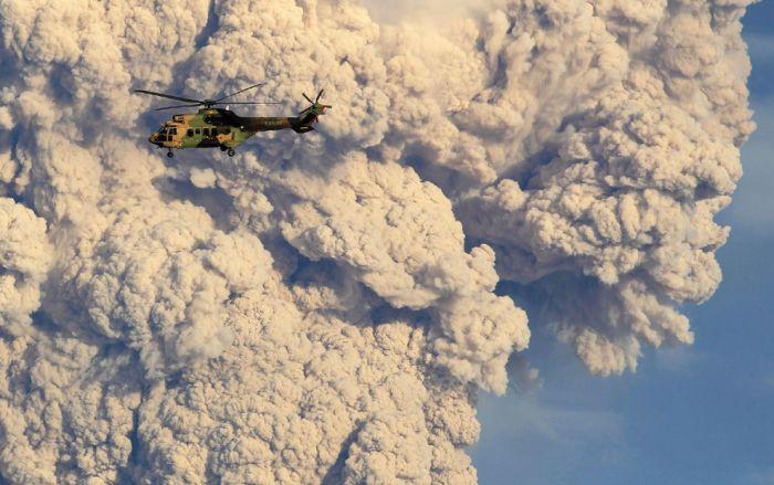 A erupção do vulcão chileno: o Inferno na Terra 05