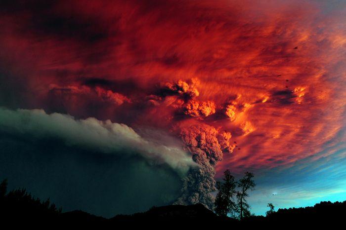 A erupção do vulcão chileno: o Inferno na Terra 10