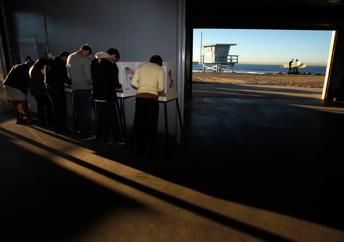 24 dos lugares mais estranhos onde os americanos votaram no dia de eleição 24