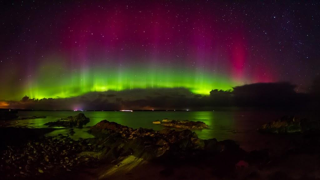 A noite dos dois fenômenos naturais celestes