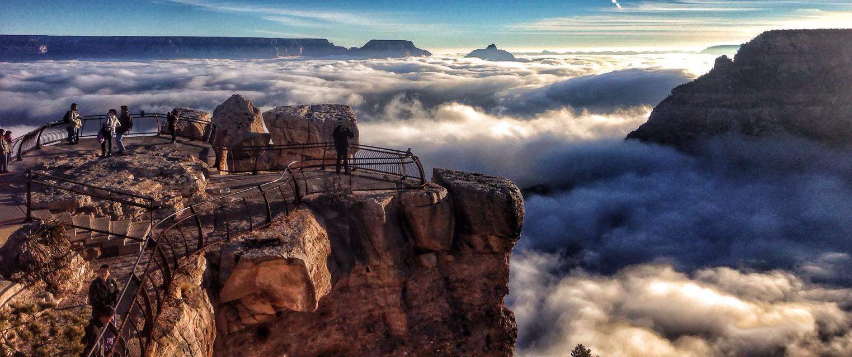 """Raro evento transforma o Grand Canyon em uma fabulosa """"cidade entre as nuvens"""" 01"""