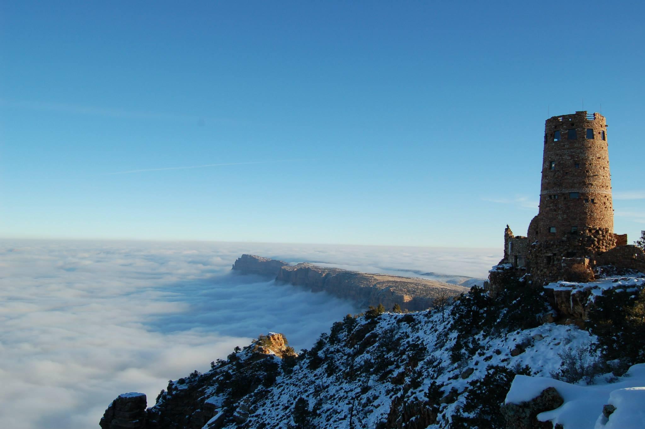 """Raro evento transforma o Grand Canyon em uma fabulosa """"cidade entre as nuvens"""" 02"""