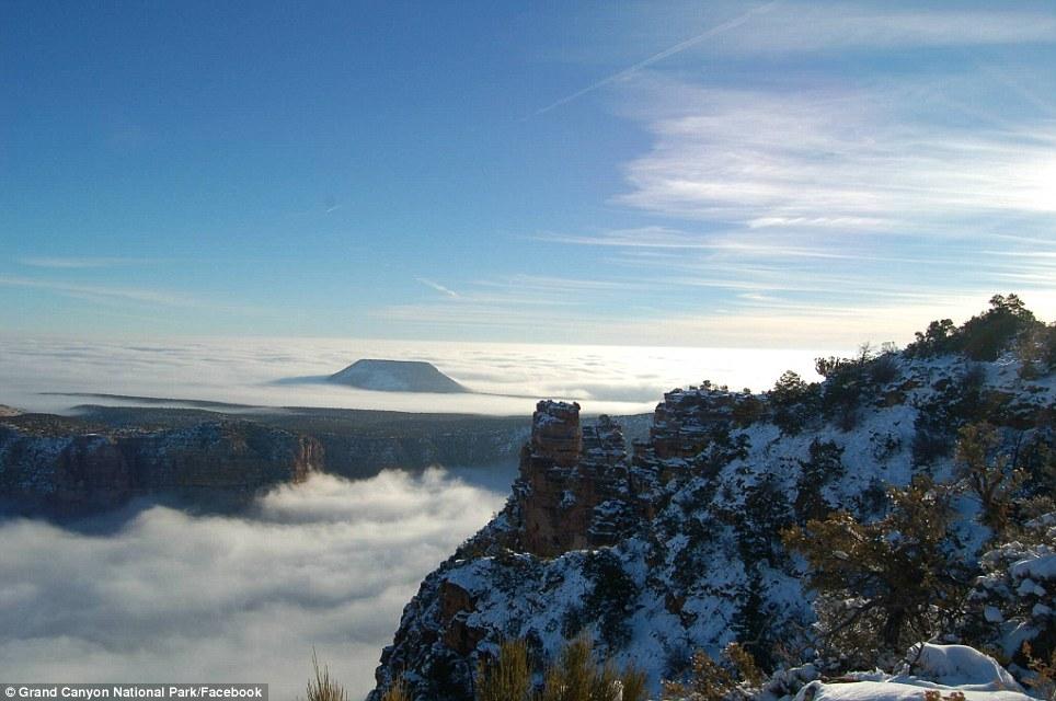 """Raro evento transforma o Grand Canyon em uma fabulosa """"cidade entre as nuvens"""" 05"""
