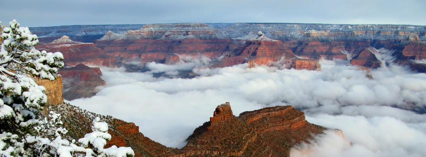"""Raro evento transforma o Grand Canyon em uma fabulosa """"cidade entre as nuvens"""" 06"""