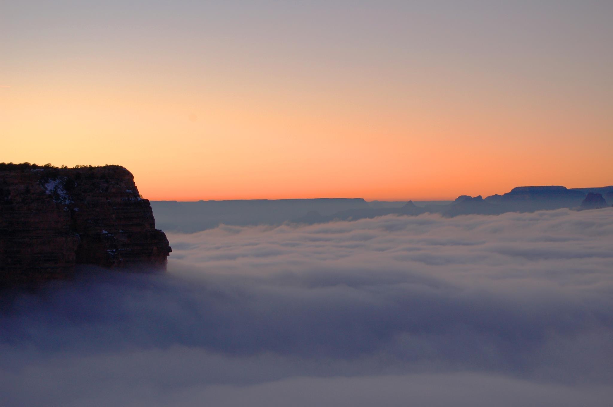 """Raro evento transforma o Grand Canyon em uma fabulosa """"cidade entre as nuvens"""" 07"""