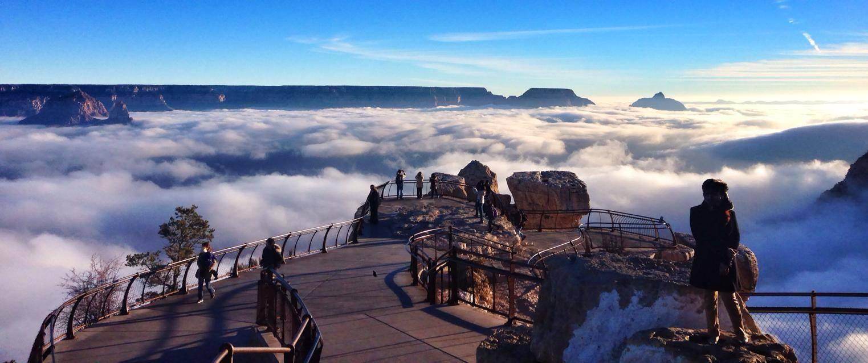 """Raro evento transforma o Grand Canyon em uma fabulosa """"cidade entre as nuvens"""" 08"""