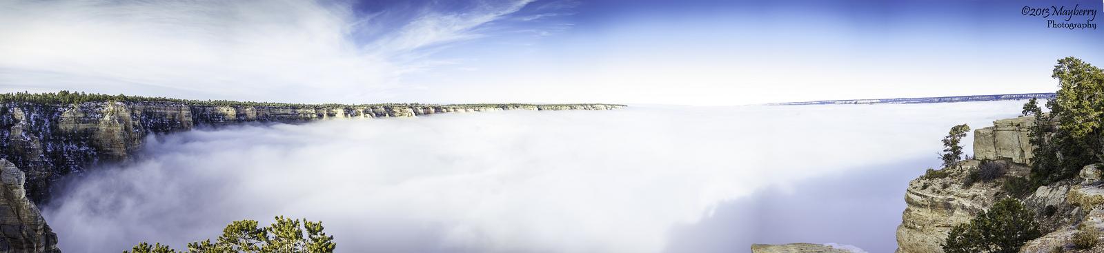 """Raro evento transforma o Grand Canyon em uma fabulosa """"cidade entre as nuvens"""" 09"""