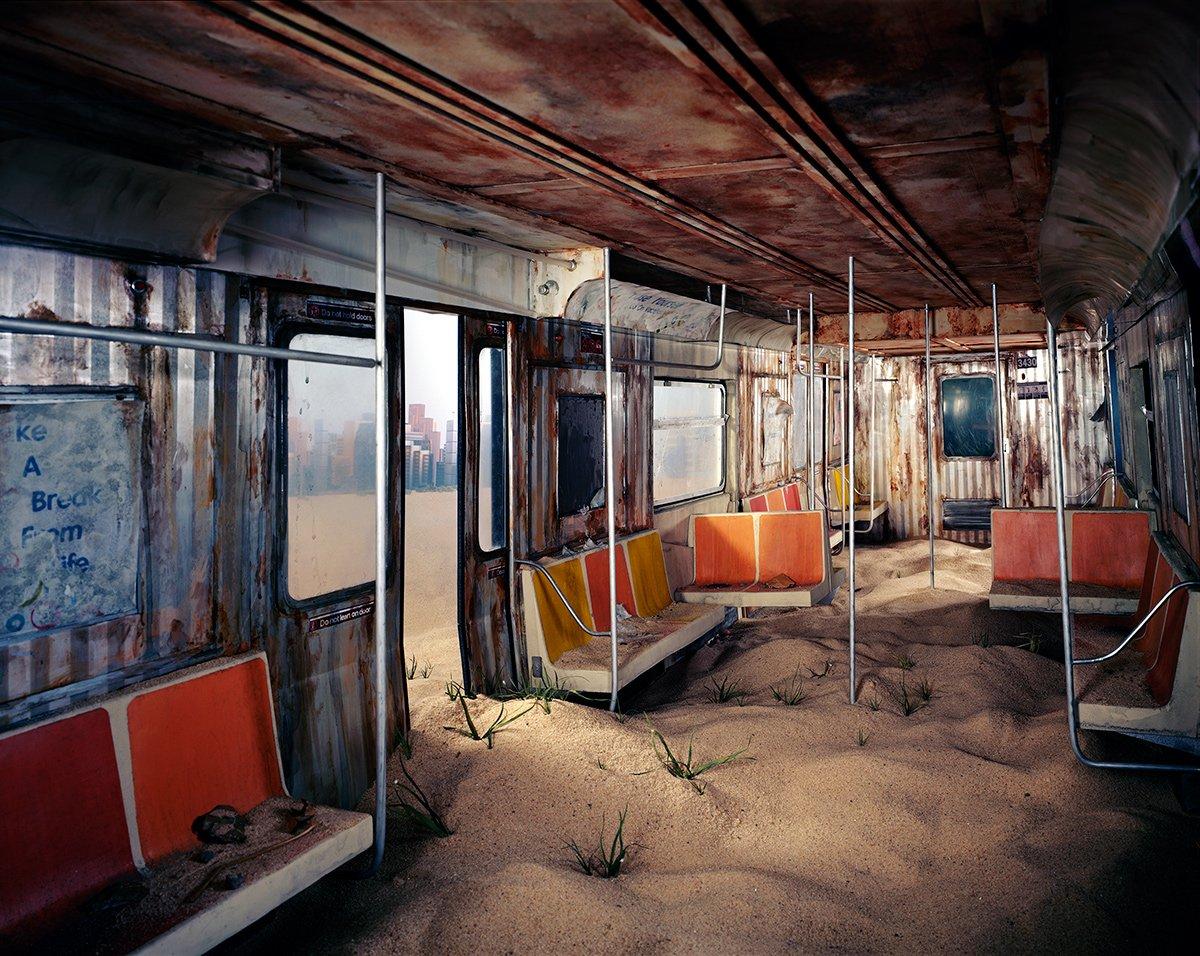 Fotos mostram lugares abandonados em um mundo pós-apocalíptico que em realidade são dioramas 04