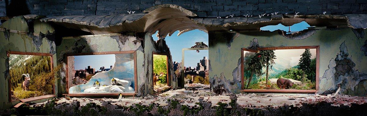 Fotos mostram lugares abandonados em um mundo pós-apocalíptico que em realidade são dioramas 13