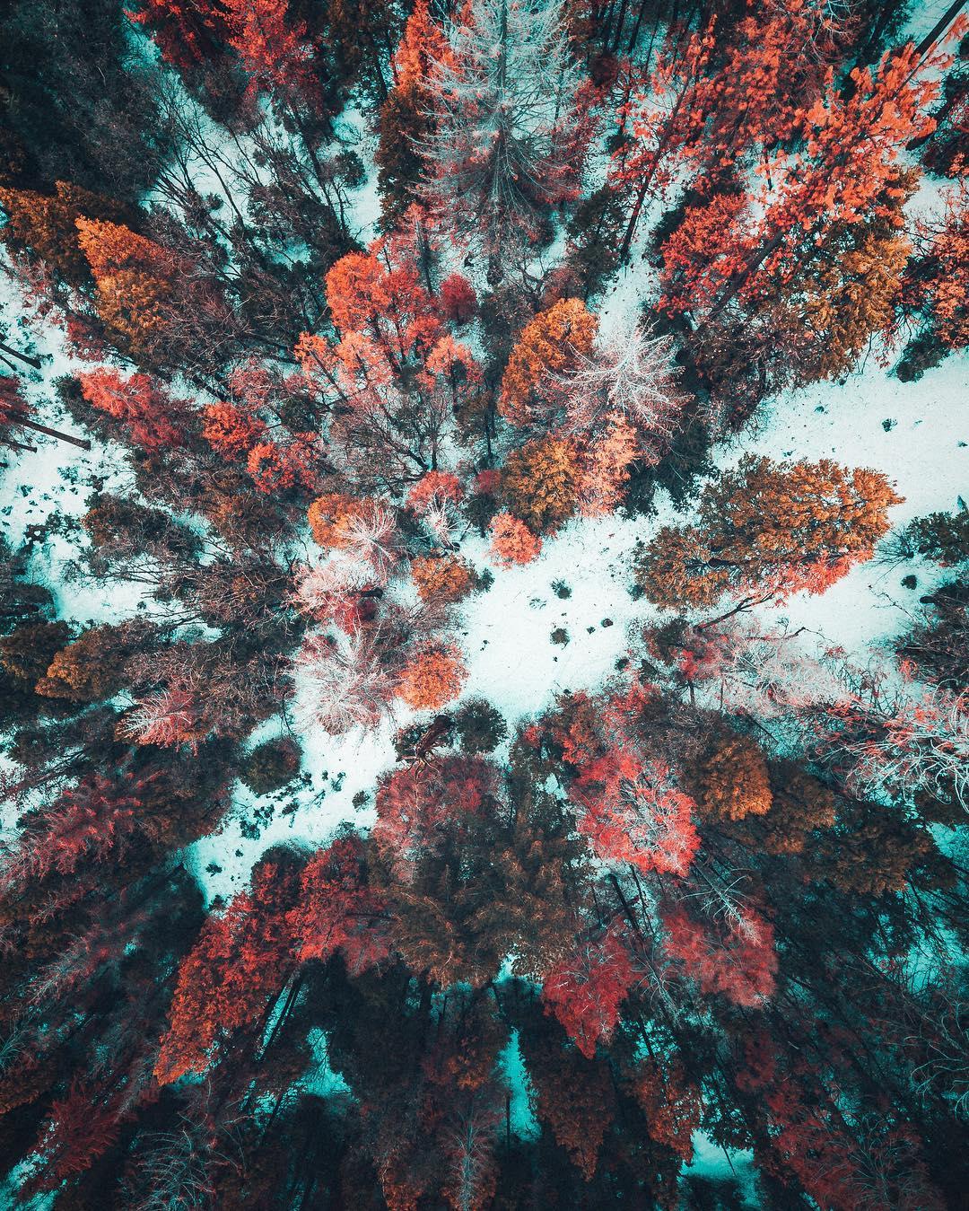 Imagens aéreas de paisagens vibrantes do fotógrafo Niaz Uddin 11