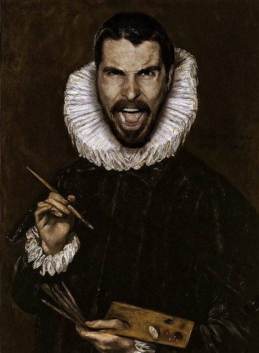 Retratos de famosos em estilo renascentista