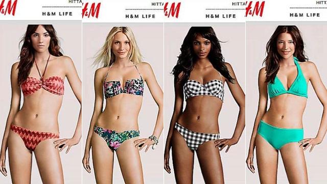 Modelos de catálogos da moda tão retocadas que realmente... não existem