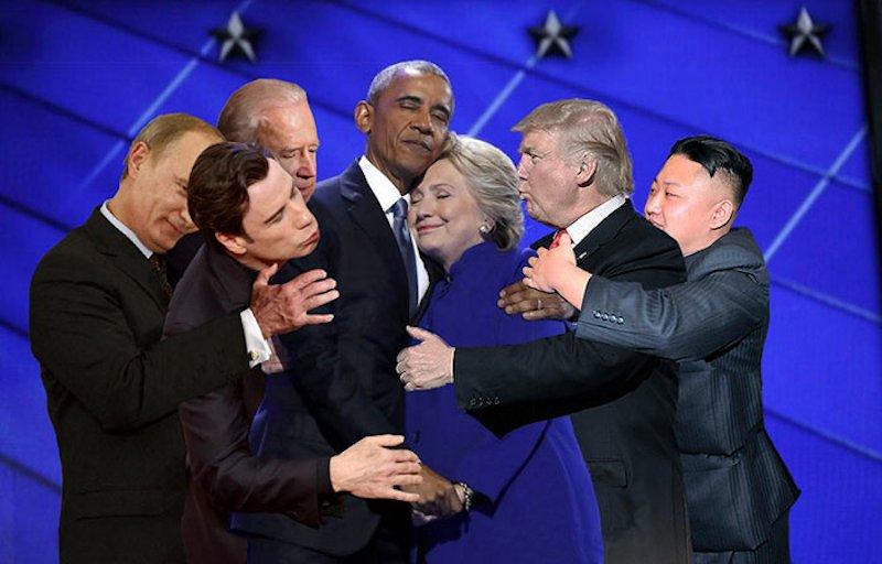 O abraço entre Obama e Hillary Clinton transformou-se em uma lendária batalha de Photoshop 02