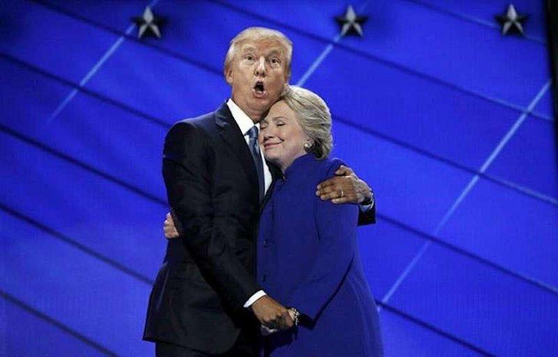 O abraço entre Obama e Hillary Clinton transformou-se em uma lendária batalha de Photoshop 21
