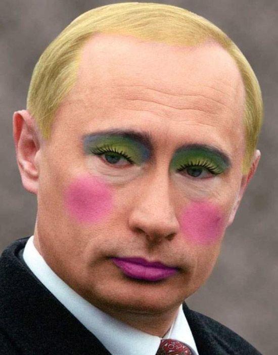 Políticos usando maquiagem