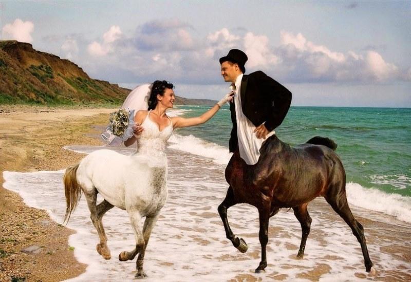 Hilariantes fotos de álbuns de casamentos russos 01