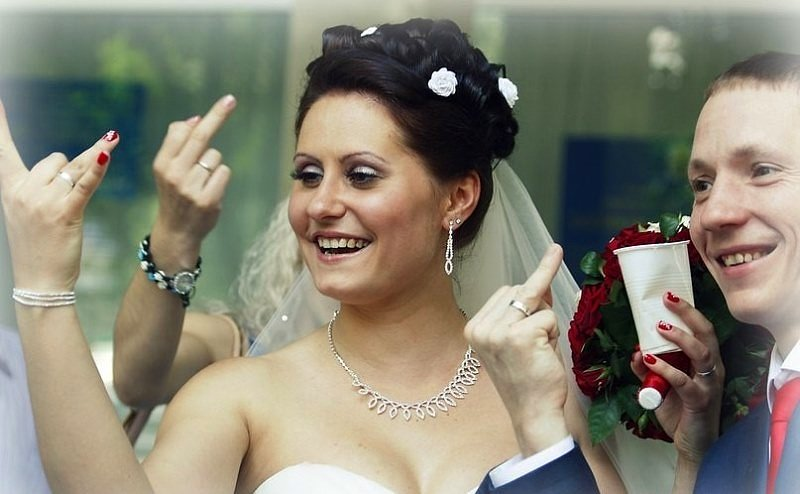 Hilariantes fotos de álbuns de casamentos russos 19