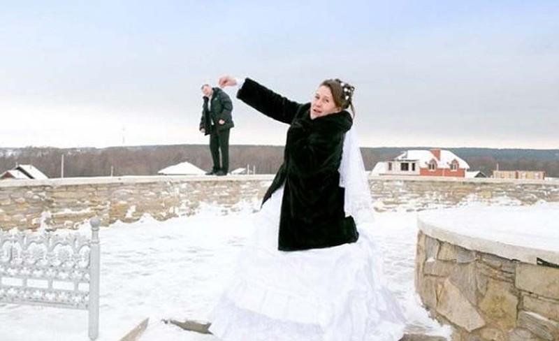 Hilariantes fotos de álbuns de casamentos russos 22