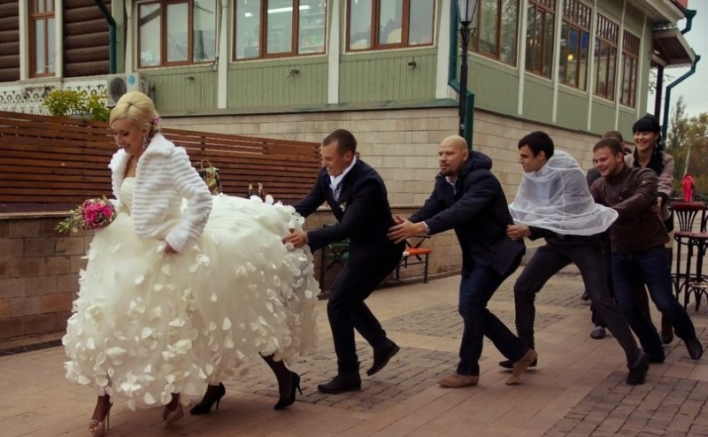 Hilariantes fotos de álbuns de casamentos russos 49