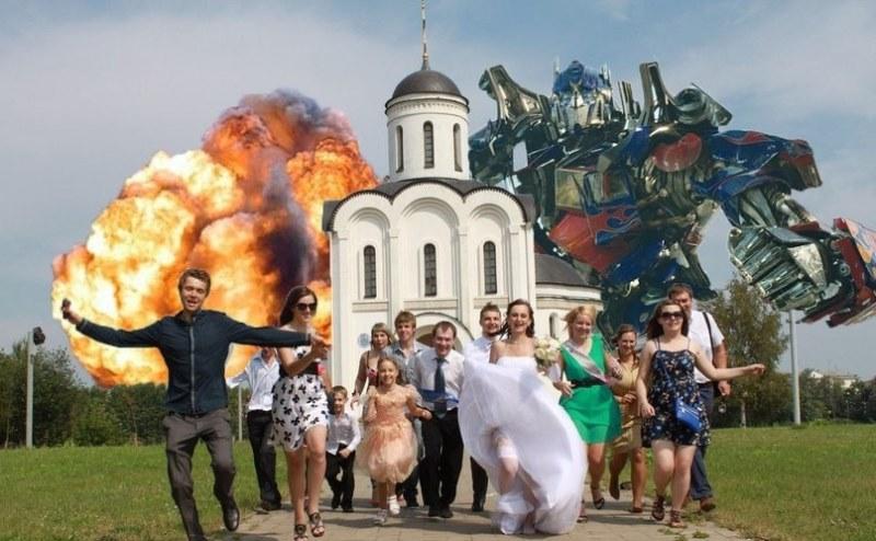 Hilariantes fotos de �lbuns de casamentos russos 52