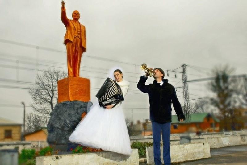 Hilariantes fotos de álbuns de casamentos russos 65