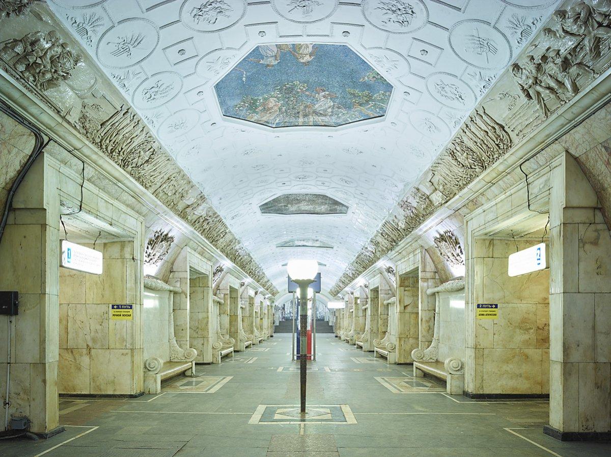 16 fotos de belas esta��es de metro de Moscou, constru�das como propaganda durante a �poca de Stalin 11