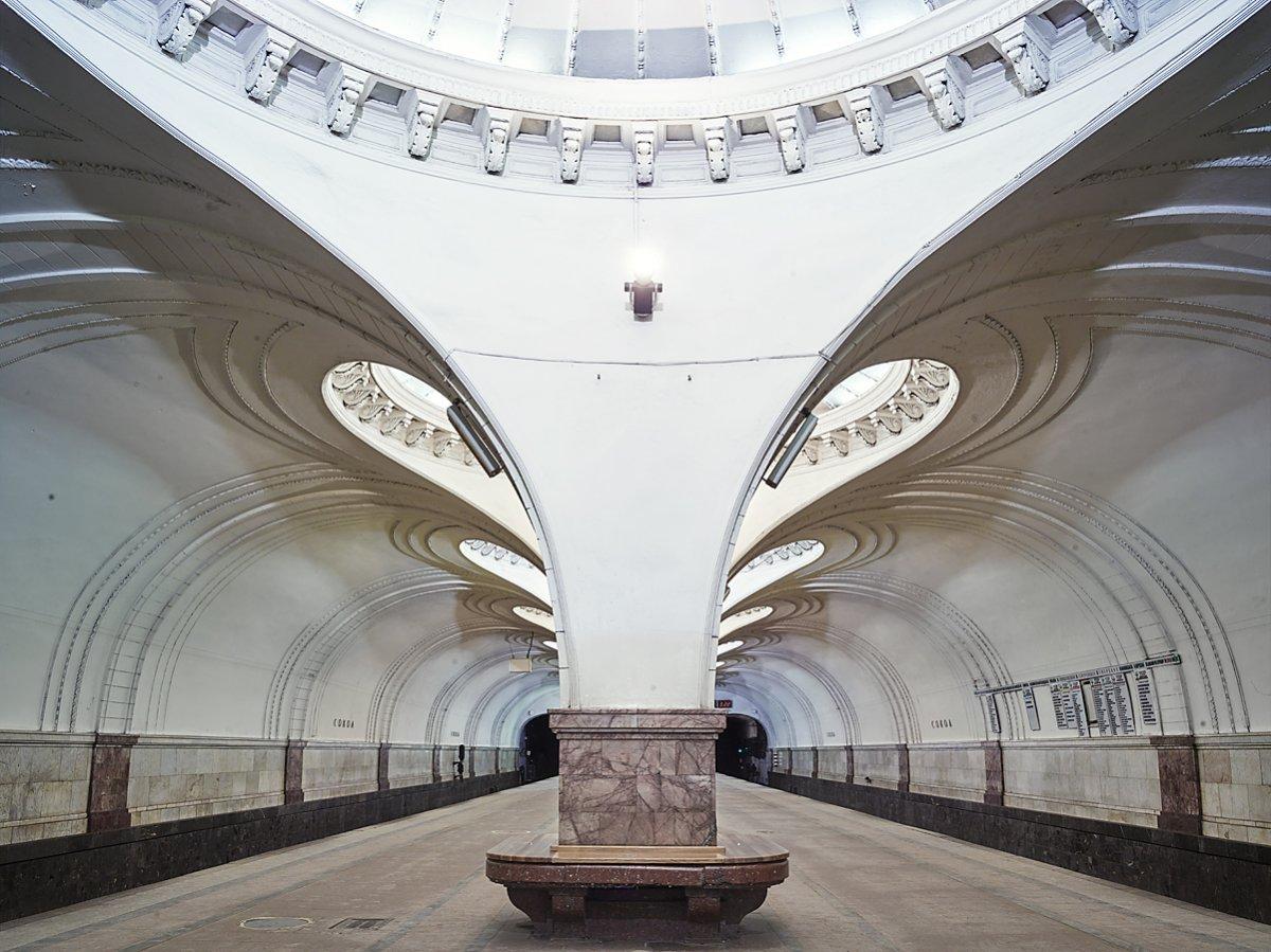 16 fotos de belas esta��es de metro de Moscou, constru�das como propaganda durante a �poca de Stalin 13