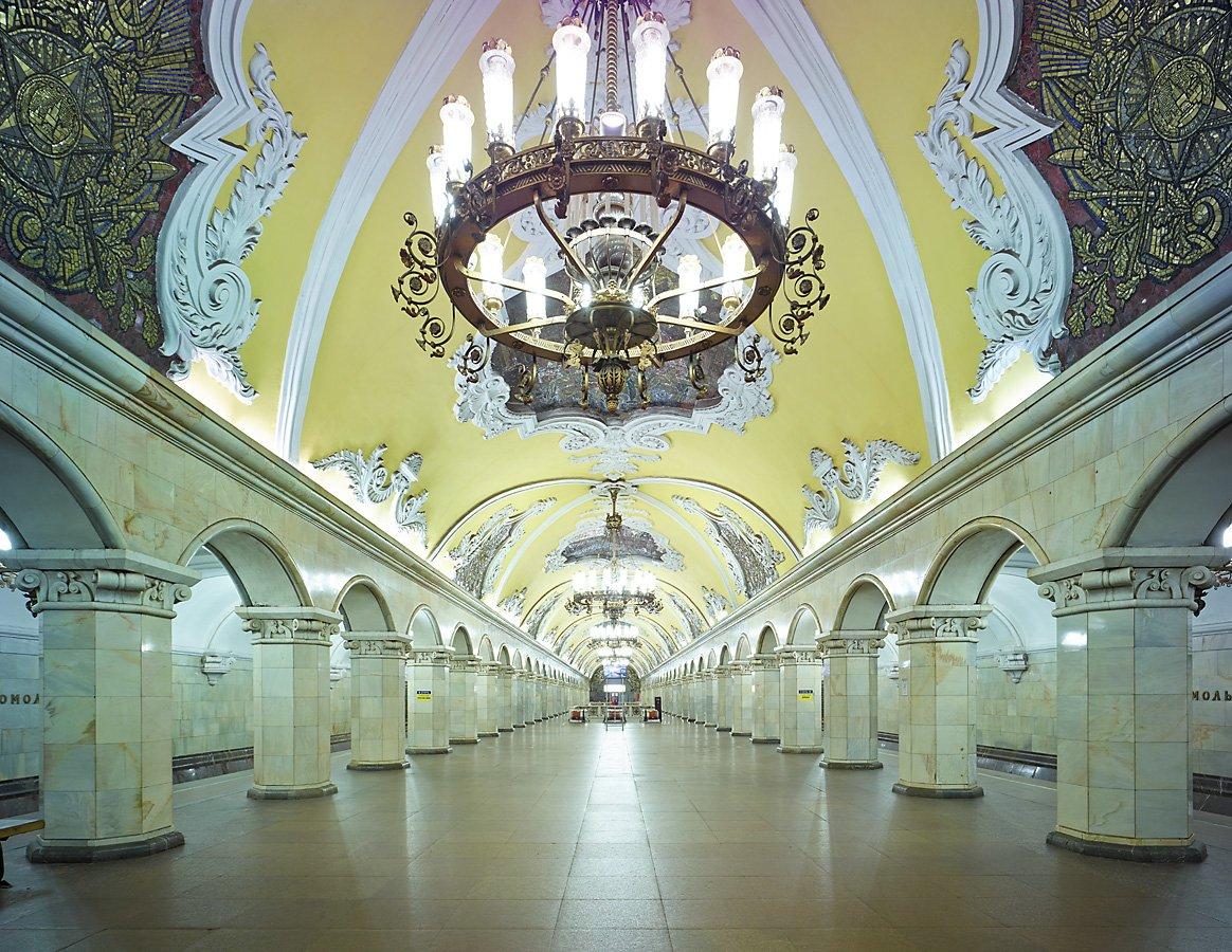 16 fotos de belas estações de metro de Moscou, construídas como propaganda durante a época de Stalin 16